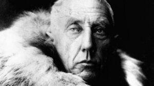 Retrato de Roald Amundsen.
