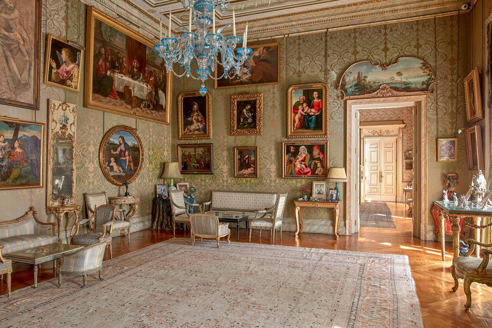 Obras de arte en el Salón Italiano del Palacio de Liria.