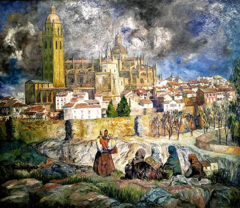 Cuadro 'Vista de Segovia' de zuloaga