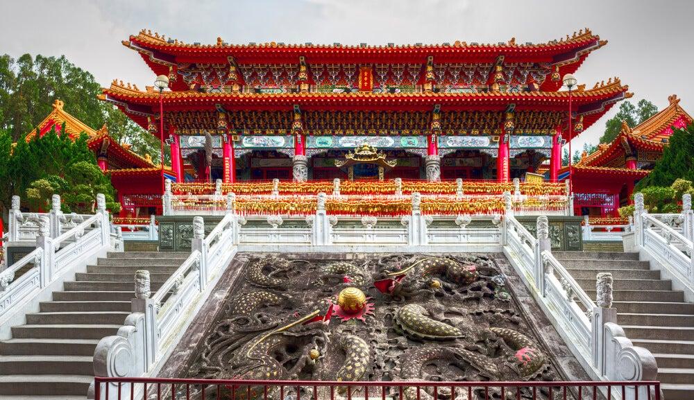 El templo Syuentzang, construido por Xuanzang en Taiwan.