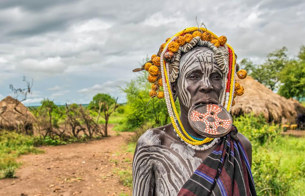 Indígena del Valle del Omo, en Etiopía.
