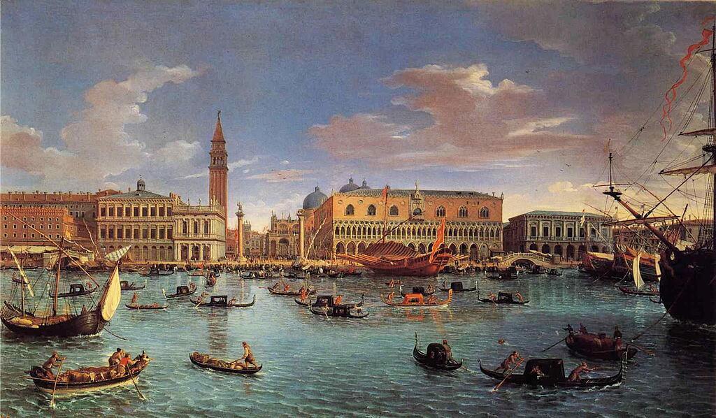 Pintura que representa Venecia