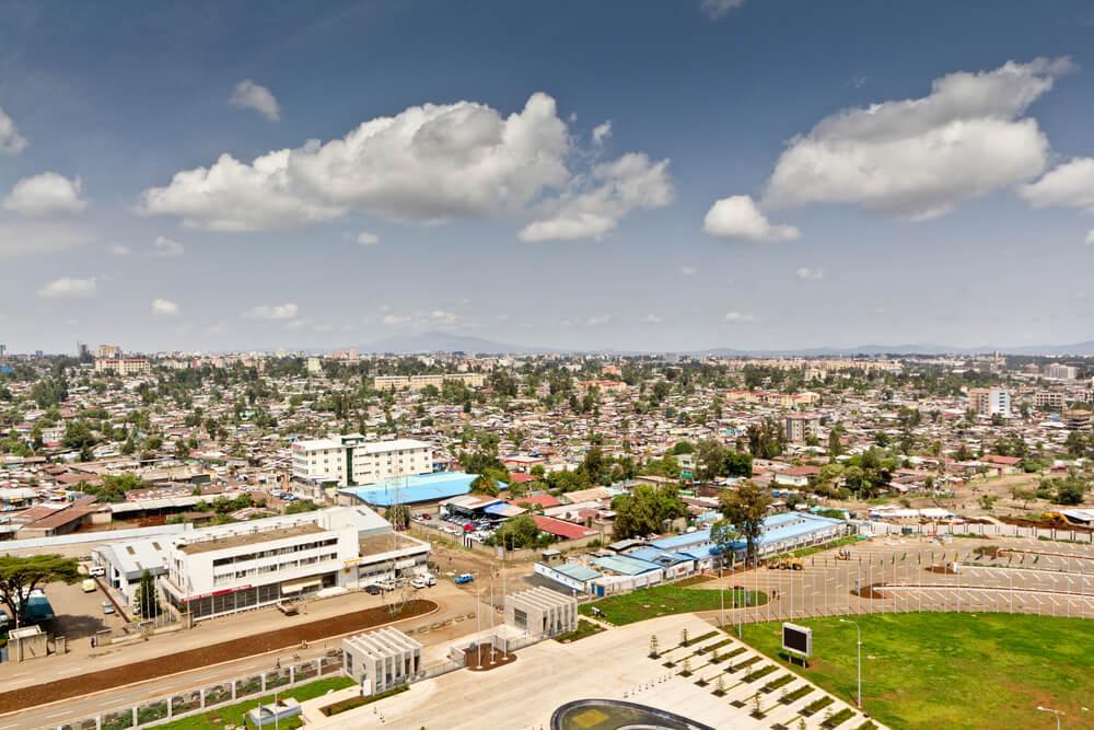 Adis Abeba, la capital de Etiopía.