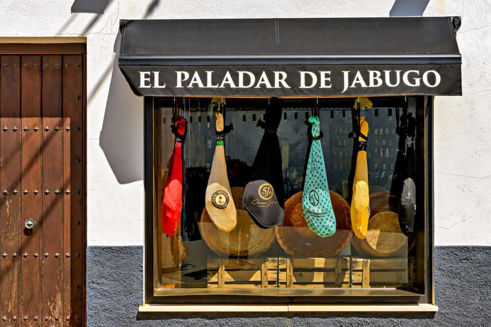 Tienda que vende los jamones de Jabugo.