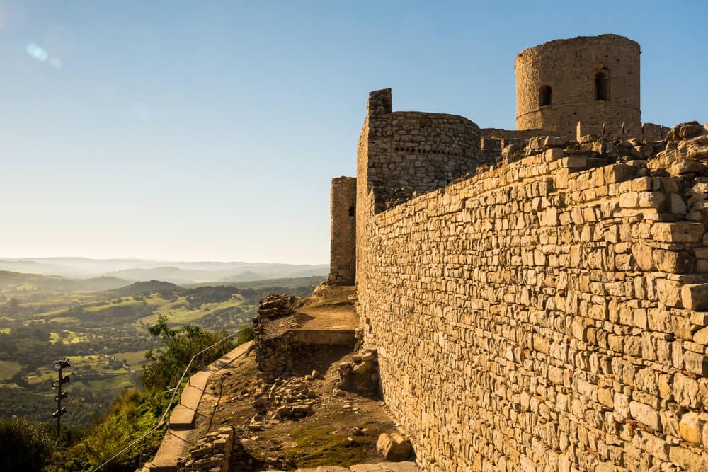 Ruinas del castillo de Jimena de la Frontera.