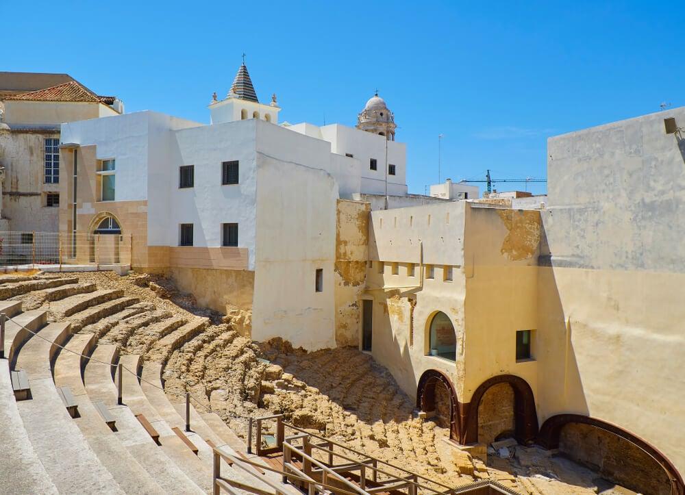 Ruinas del Teatro romano de Gades, en la actual Cádiz.