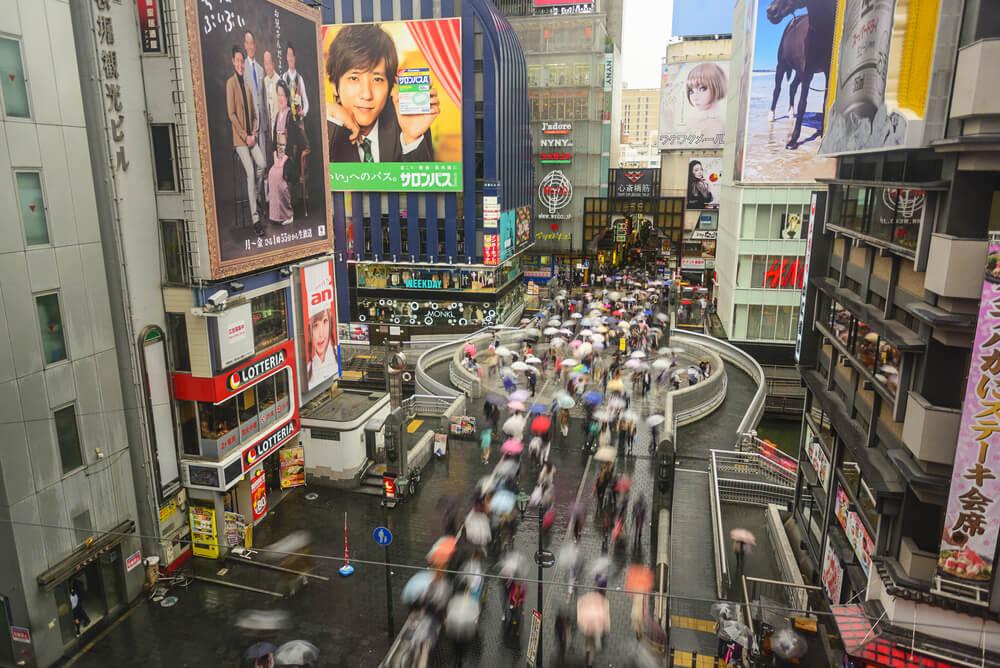 Turismo durante la Golden Week en Osaka.