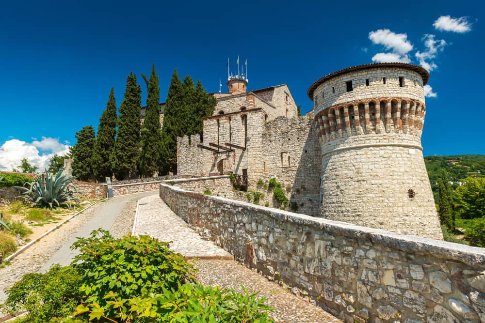 El Castillo de Brescia, una de las atracciones de esta ciudad italiana.