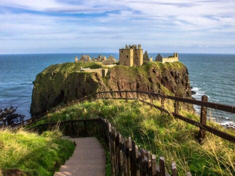 El Castillo Dunnotar, en la costa escocesa.