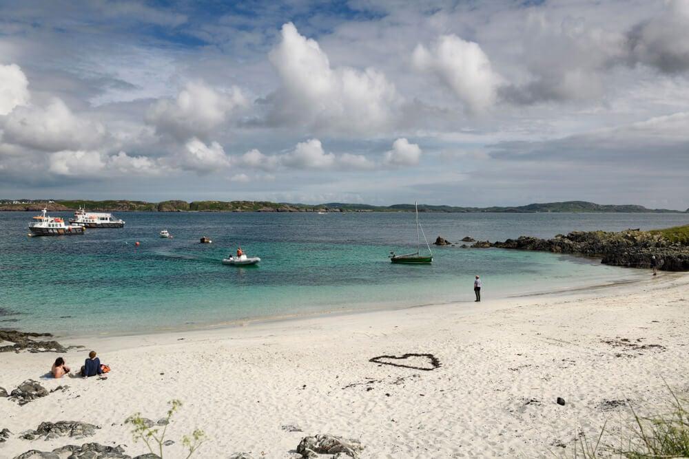 Postal de Martyr's Bay, en la Isla de Iona.
