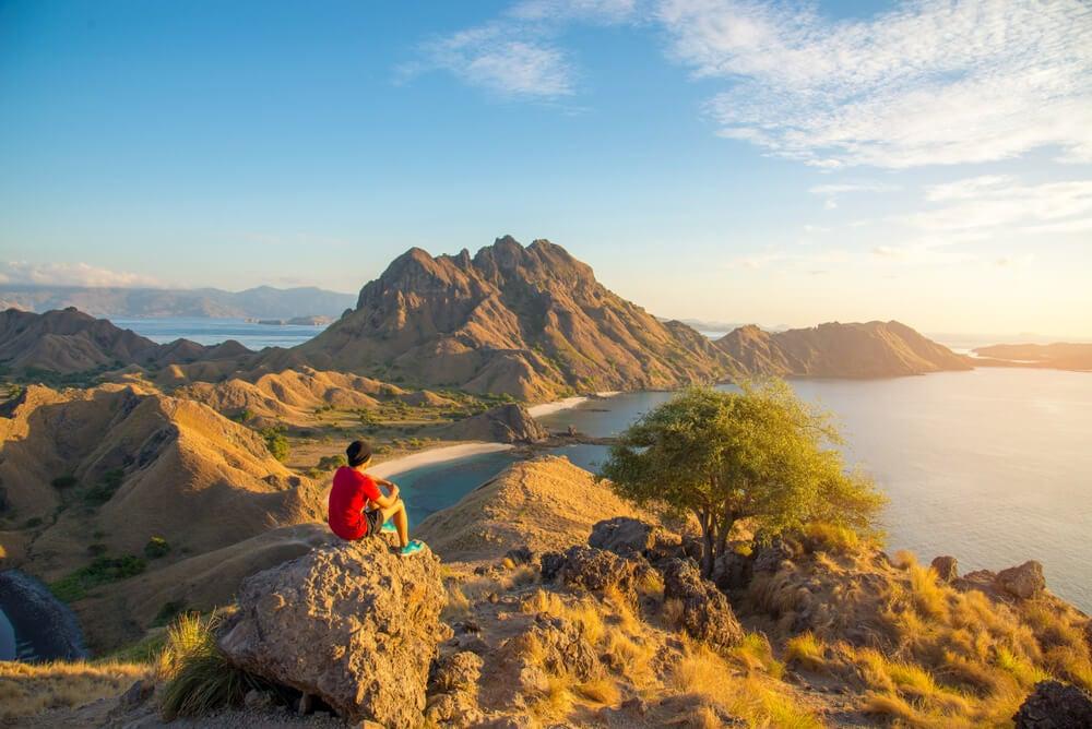 La pequeña Isla Padar en Indonesia
