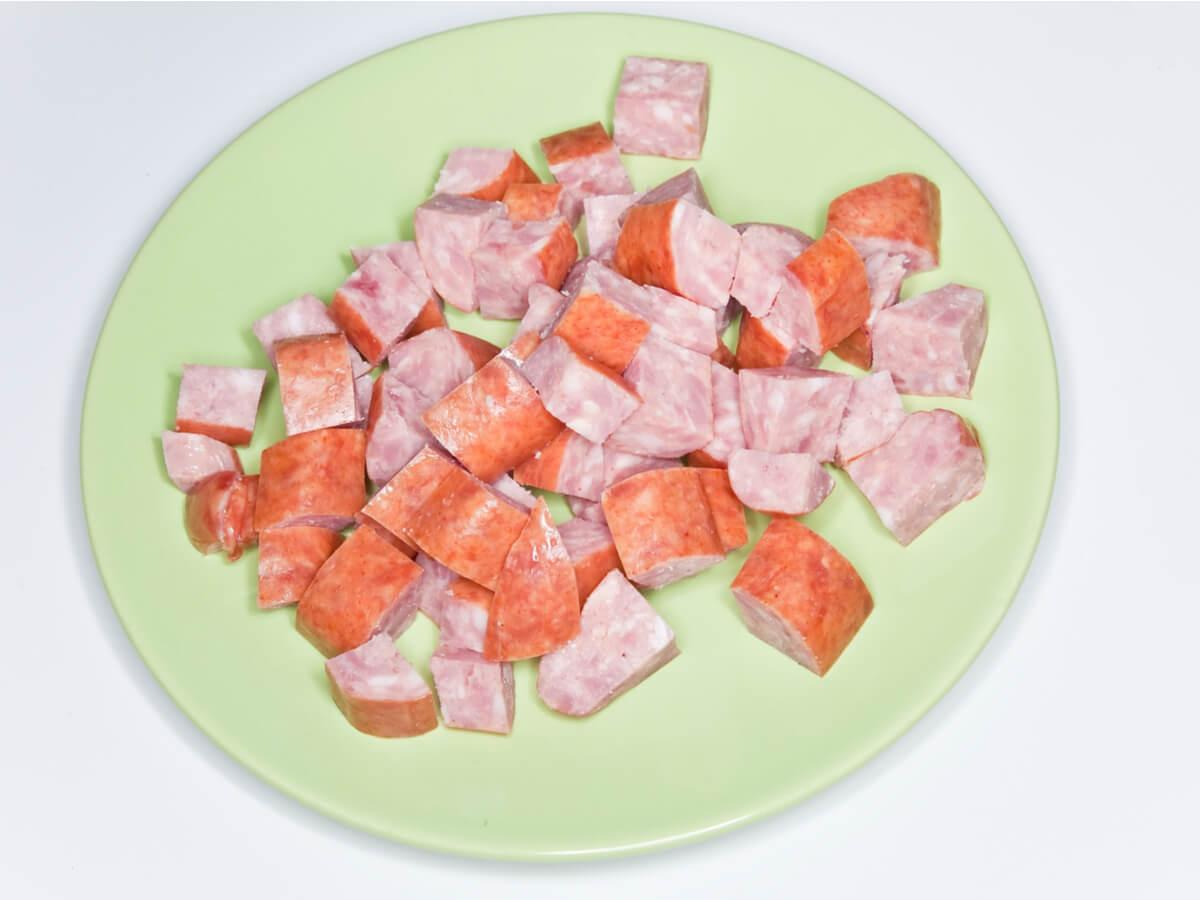 La kovbasa es una comida típica de Ucrania.