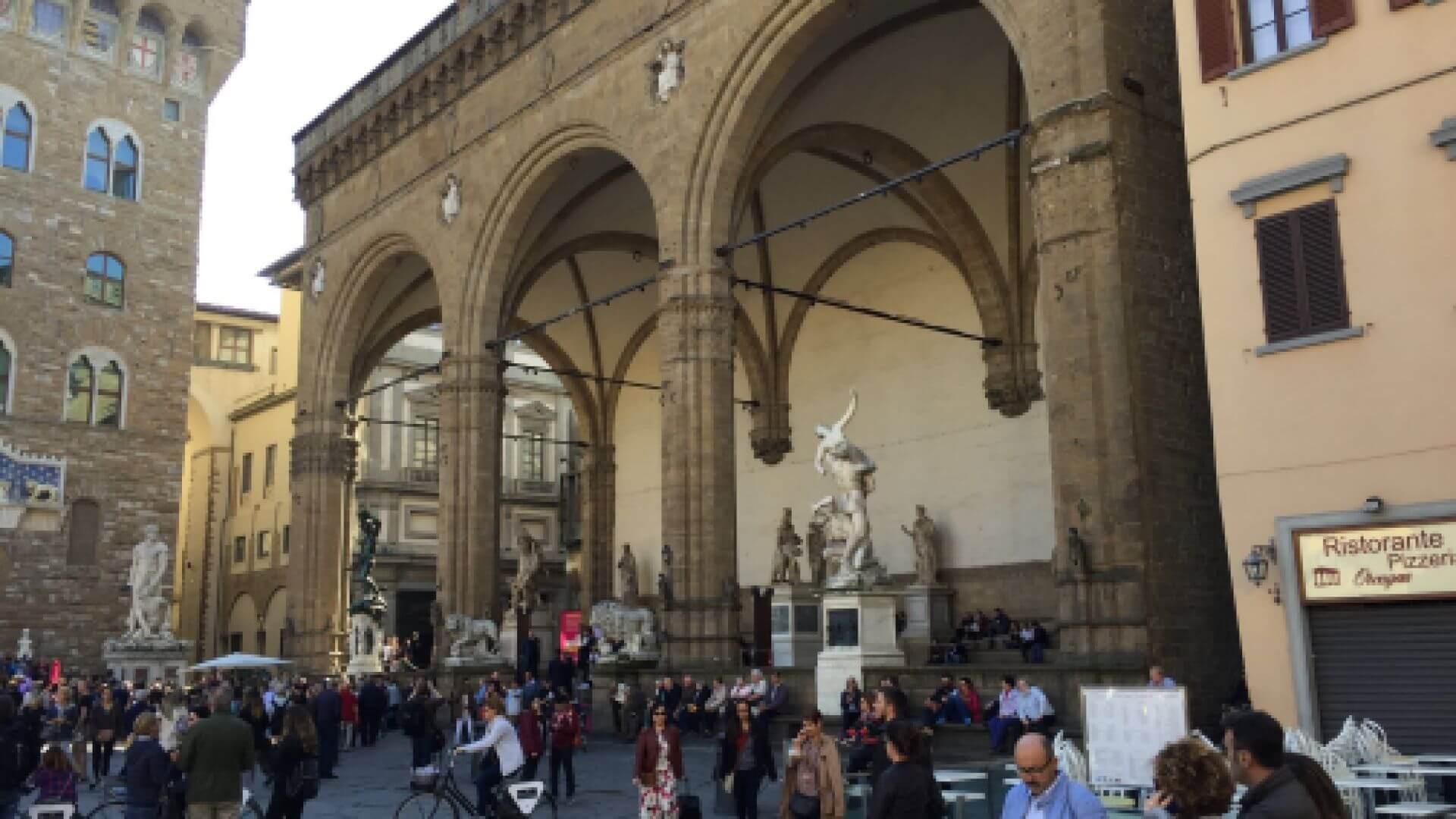 La Logia de la Signoria, en Florencia.