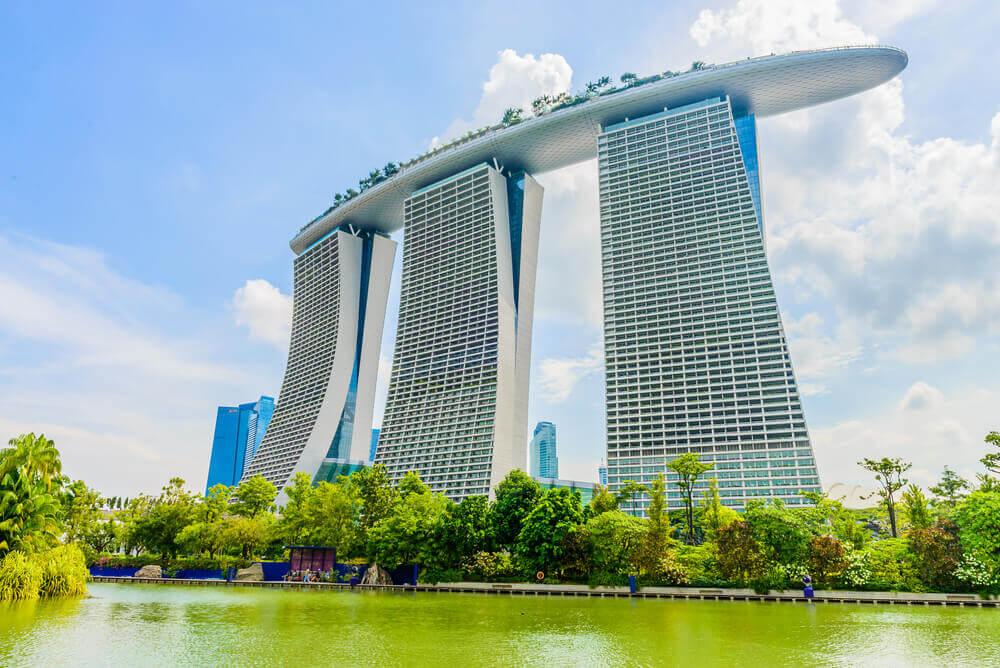 Marina Bay Sands, uno de los centros comerciales más grandes de Singapur.