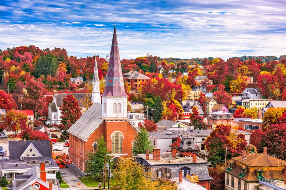Postal de Montpelier, la capital del estado de Vermont.