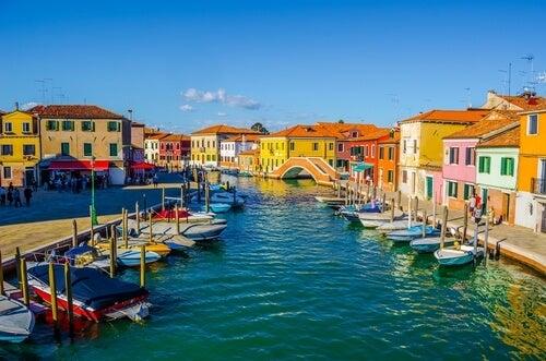 Murano en la laguna de Venecia.