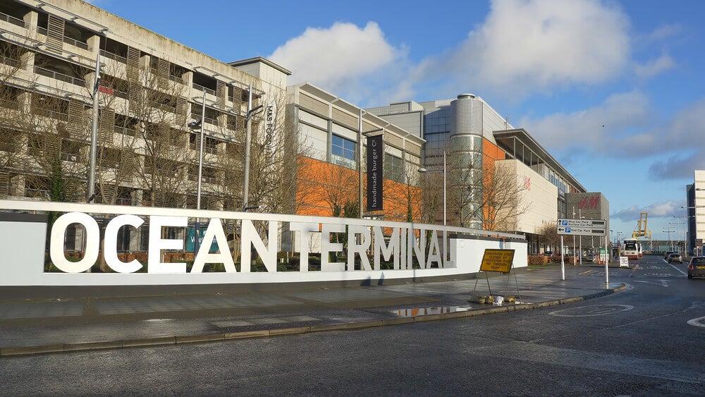 Ocean Terminal, un centro comercial enorme en Edimburgo.