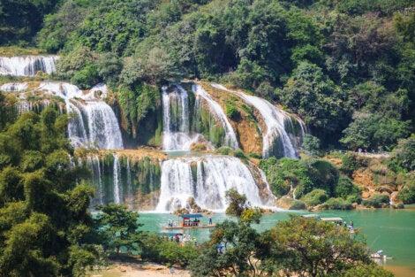 Las cataratas Ban Gioc ofrecen unas vistas espectaculares.