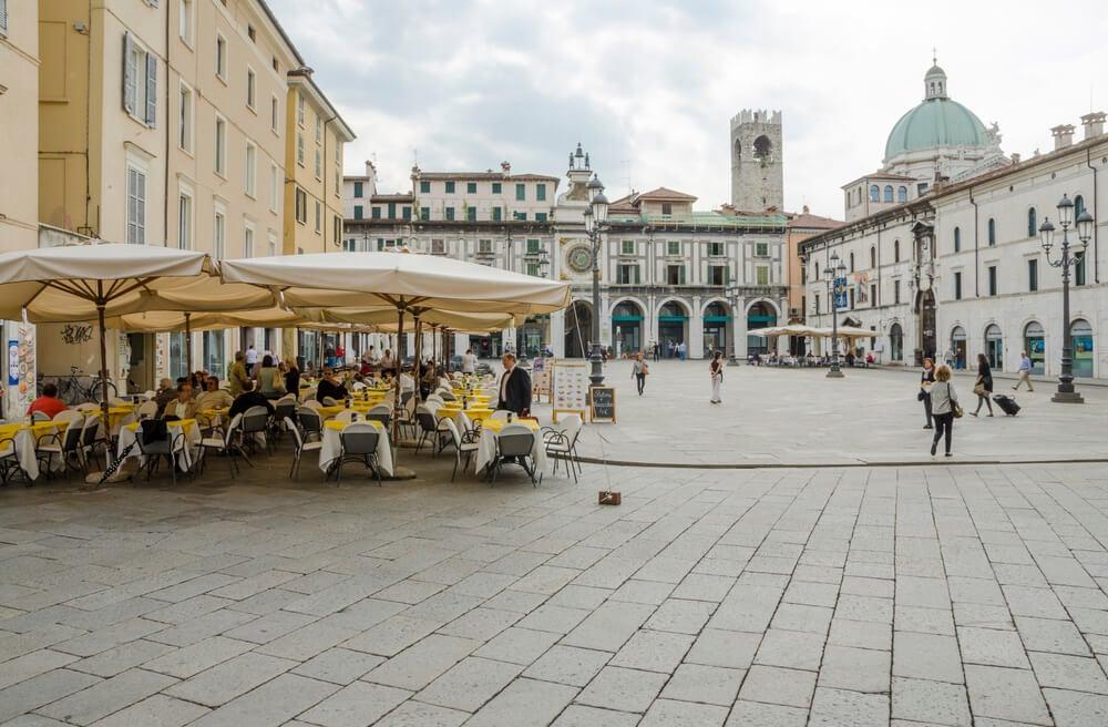 Piazza della Loggia en Brescia.