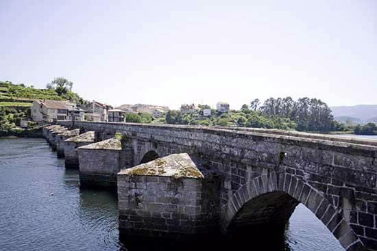 El Ponte Sampaio, sobre el Río Verdugo, en Pontevedra.
