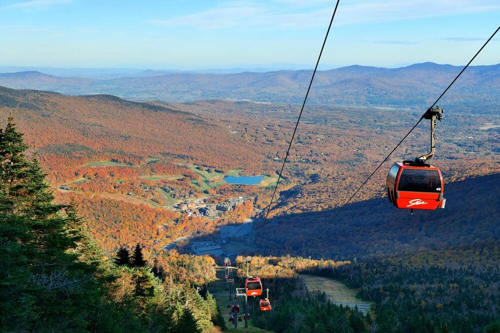 Vista desde la estación de esquí de Stowe, en Vermont.