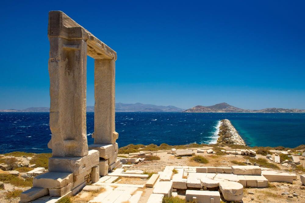 El Templo Apollo, en la isla de Naxos.