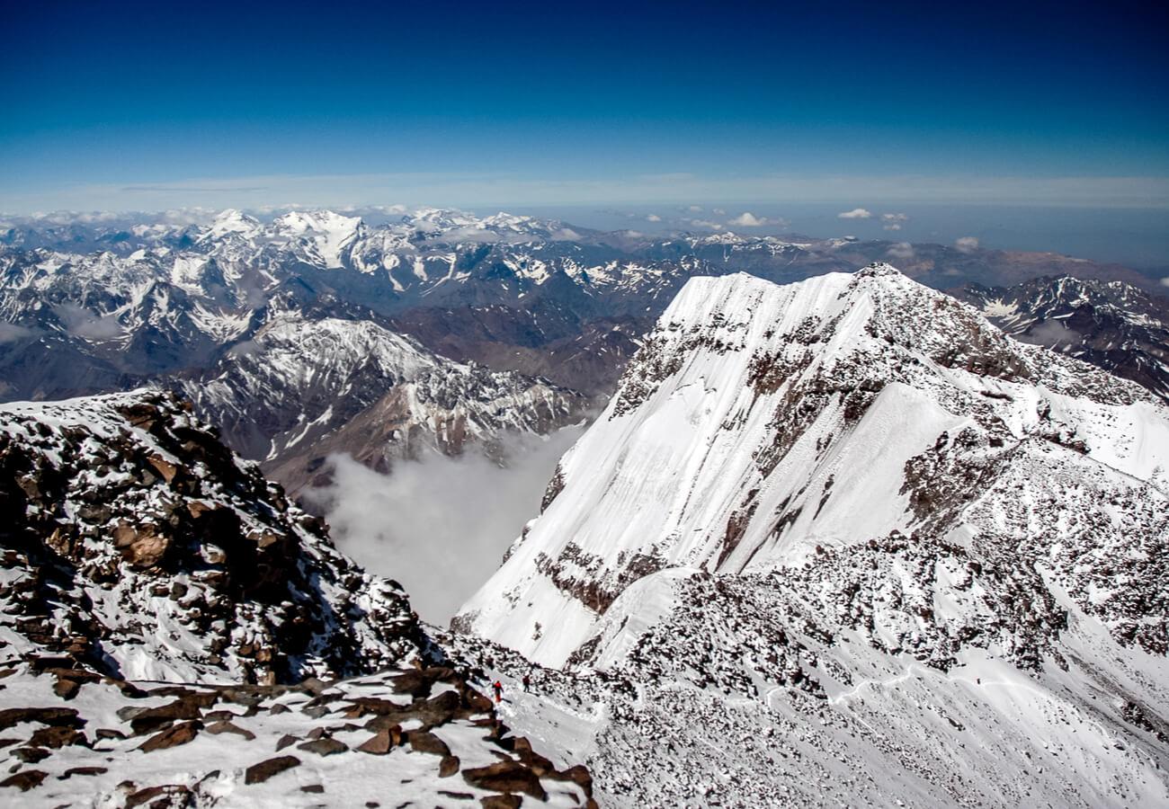 Punta sur del Cerro Aconcagua.