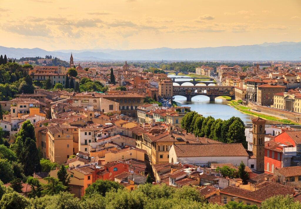 Vista de la ciudad de Florencia durante el otoño.