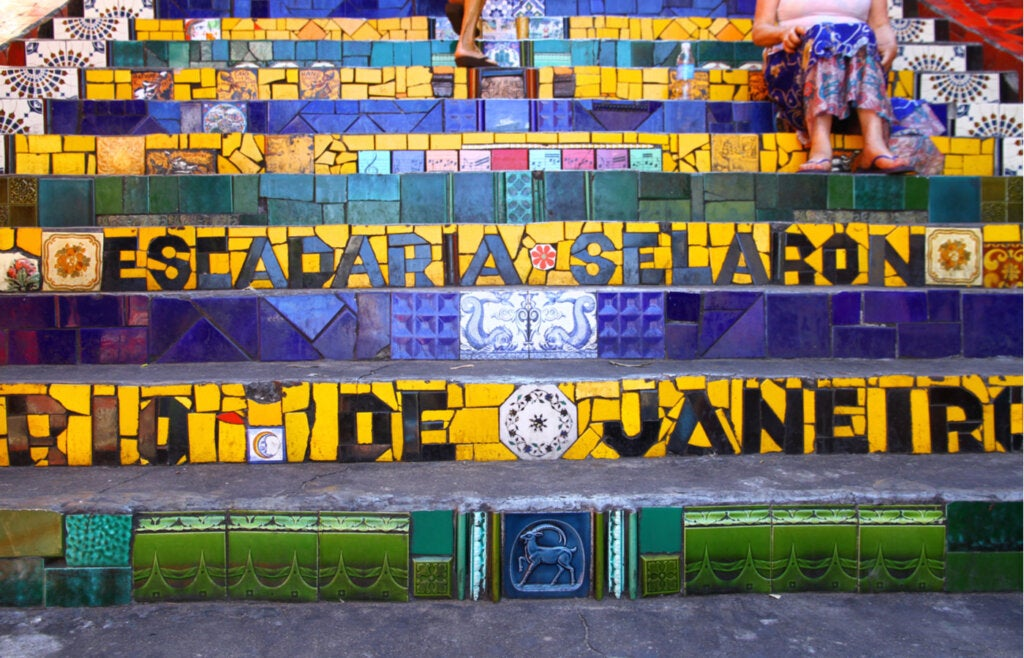 La famosa escalera Selarón en Río de Janeiro