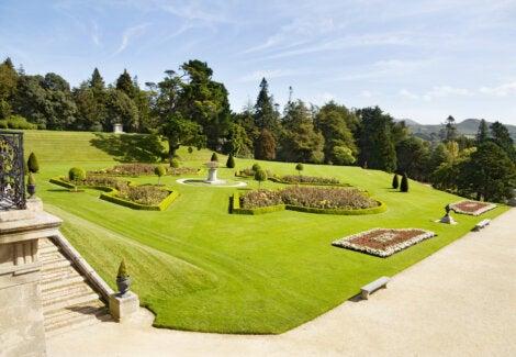 El jardín italiano de Powerscourt House.