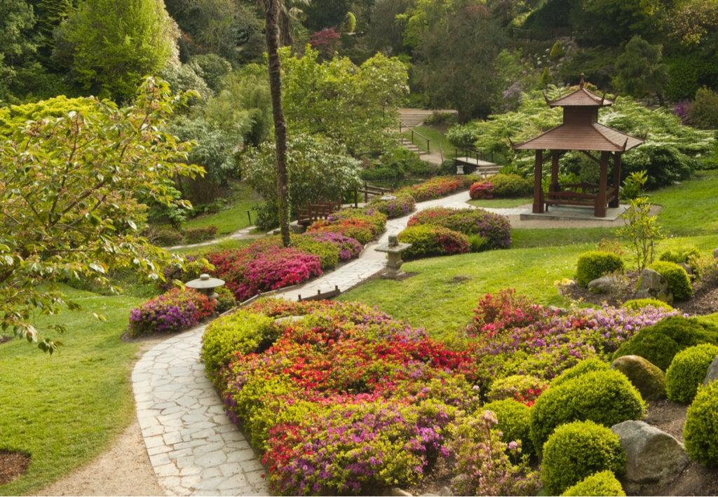 Jardín japones de Powerscourt, en Irlanda.