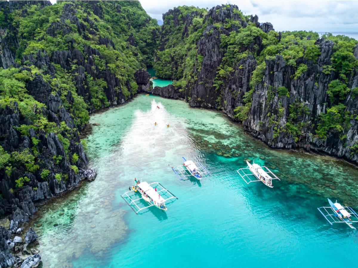El Nido es un asombroso lugar natural en Filipinas.