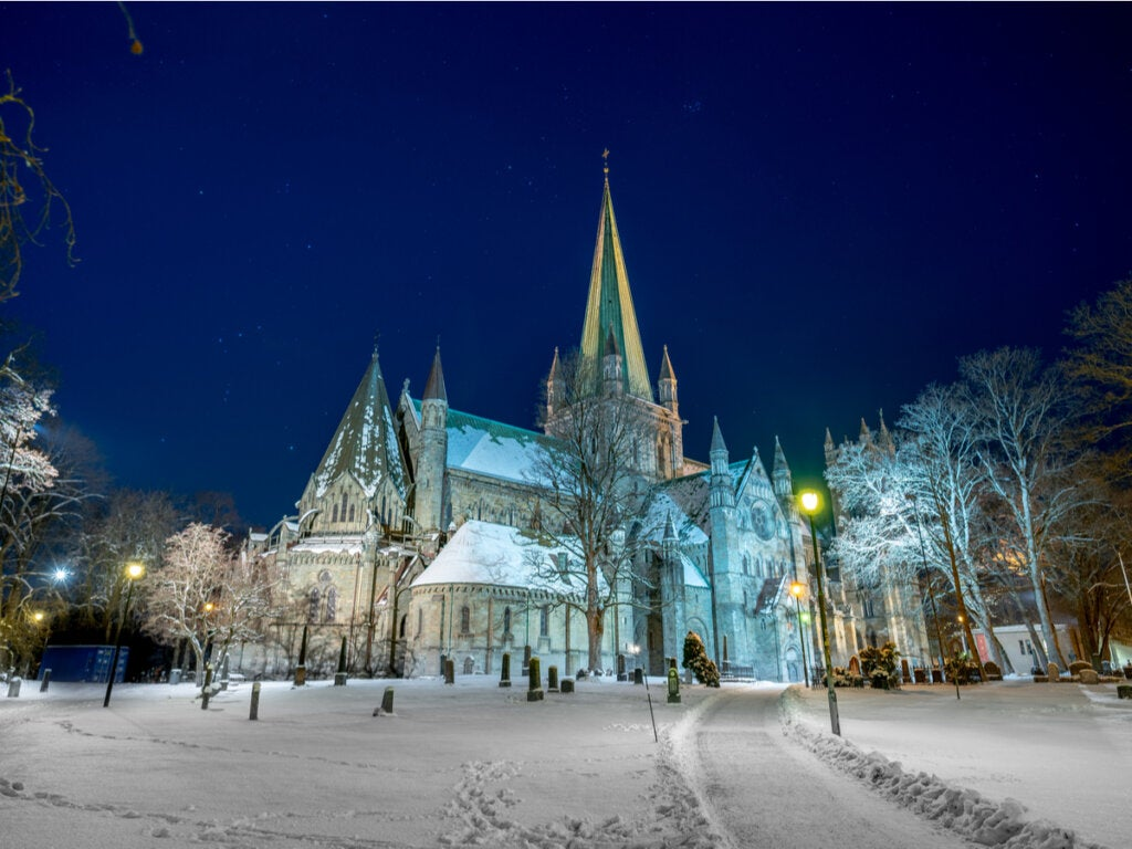 La catedral de Trondheim, en Noruega.