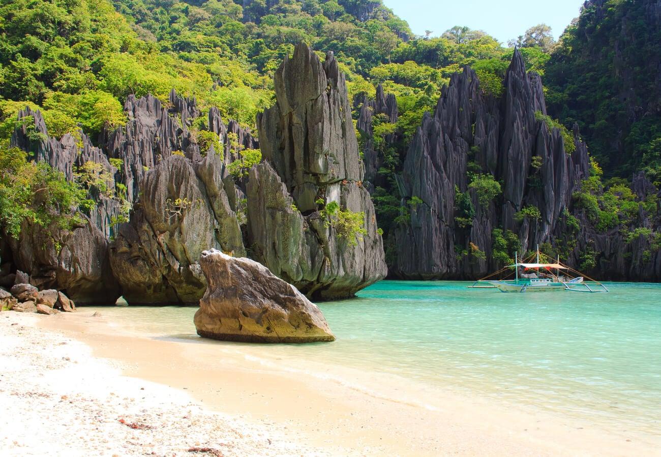 Hermoso paisaje en El Nido, Filipinas.