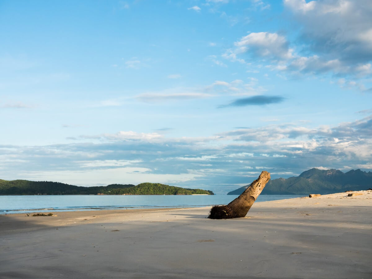 Tengah Beach, en Langkawi.