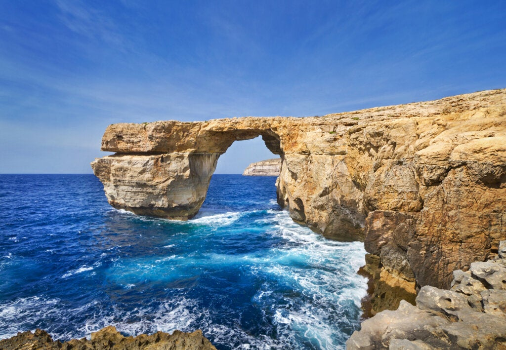 El colapso de la Ventana Azul de Malta