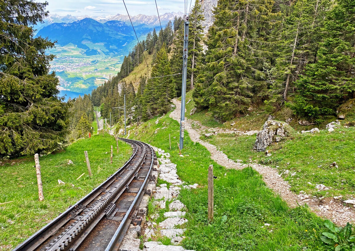 El cantón Obwald y un hermoso paisaje en Suiza.