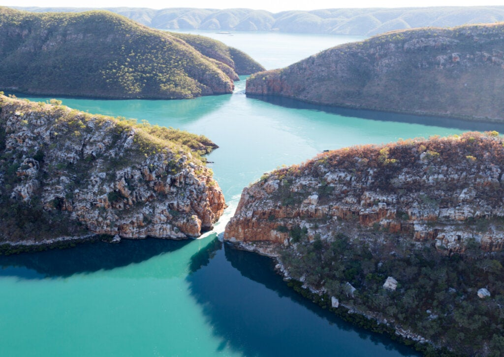 Las cataratas horizontales son una maravilla que se puede apreciar en Australia.
