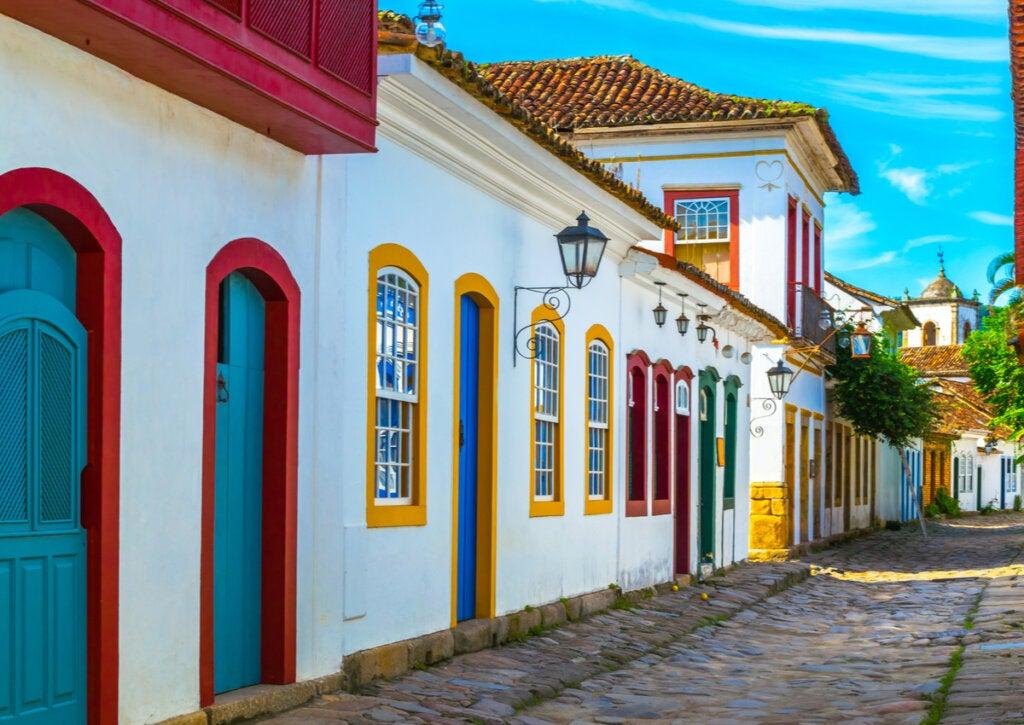 Centro histórico de Paraty, una ciudad poco conocida de Brasil.