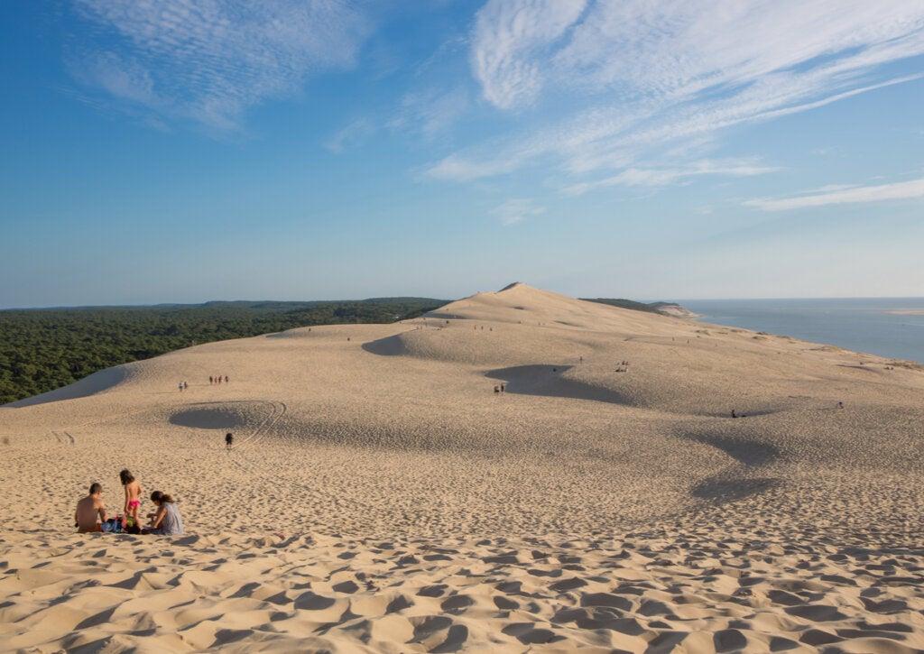 La duna de Pilat, un sitio natural maravilloso de Francia.