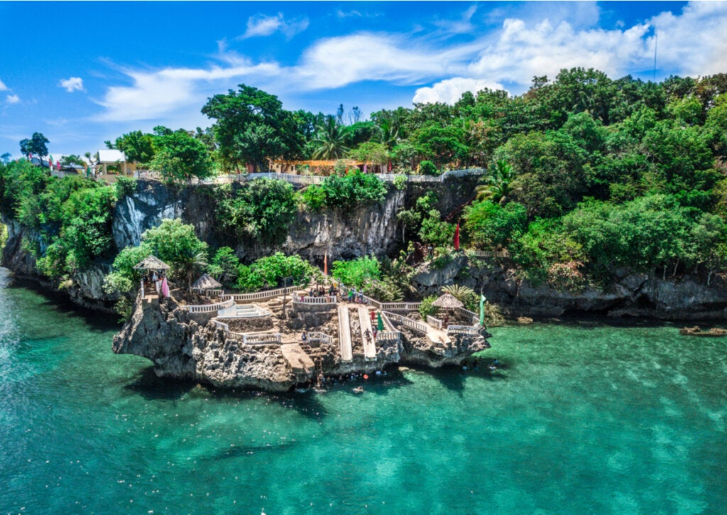 Isla Camotes, localizada en Filipinas.