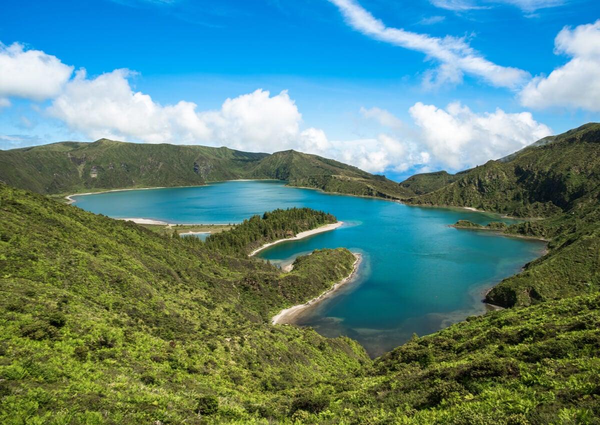 La isla San Miguel, una de las Islas Azores orientales.