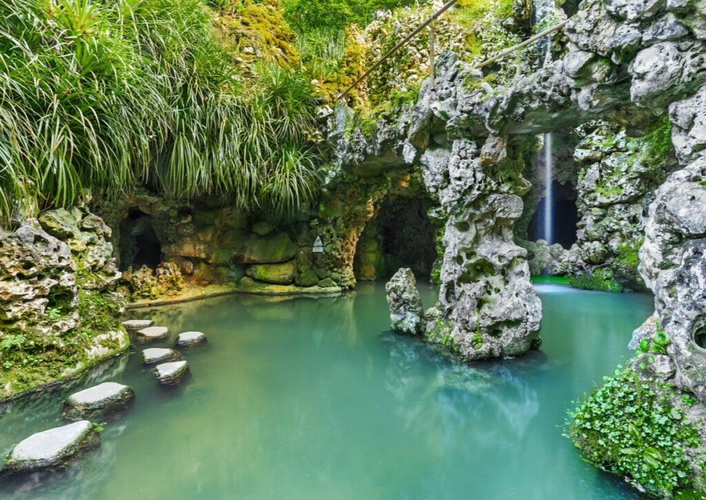 Uno de los bellos jardines de la Quinta da Regaleira.
