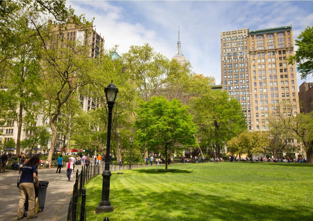 El Madison Square Park, en el corazón de Nueva York.