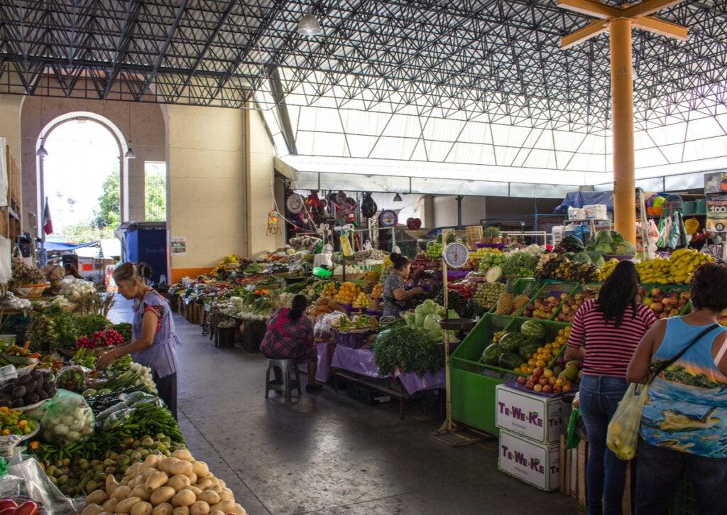 Uno de los mercados de Oaxaca, en México.