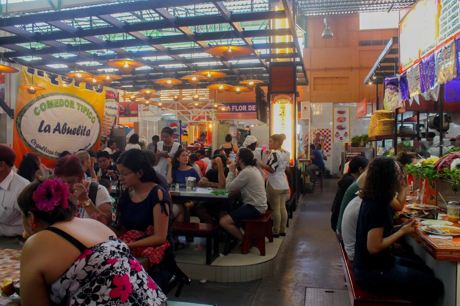 El mercado 20 de noviembre, tradicional de Oaxaca.