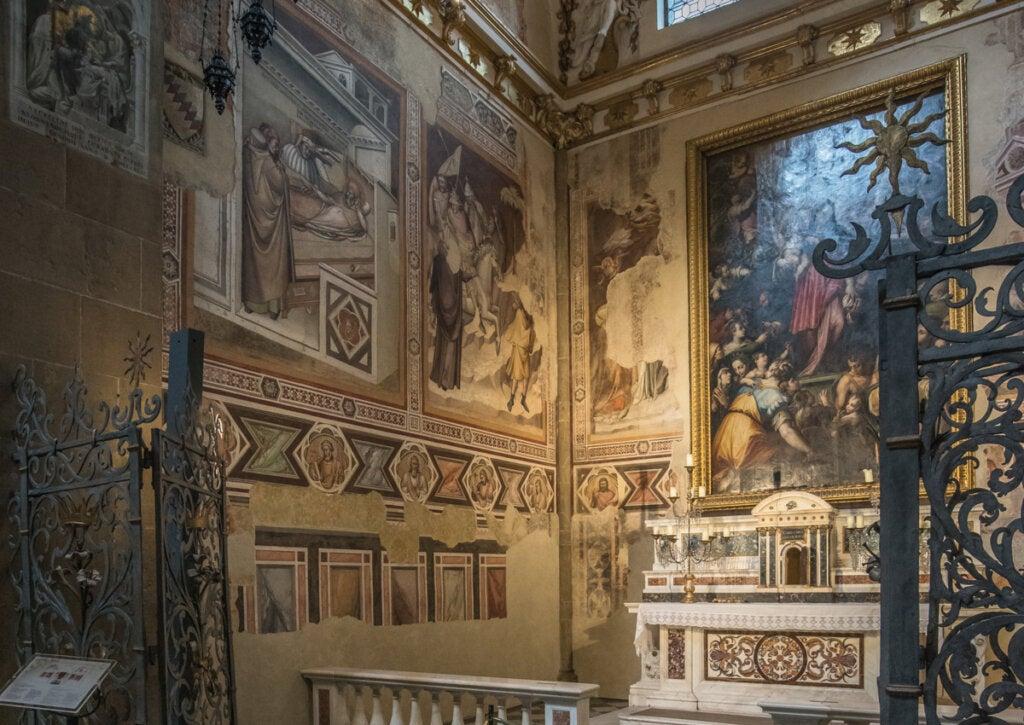 Obra de Vasari en el interior del templo Santa María de Novella, Italia.
