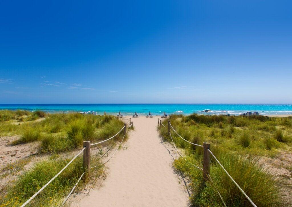 Las playas de Alaior son otra atracción de la isla.