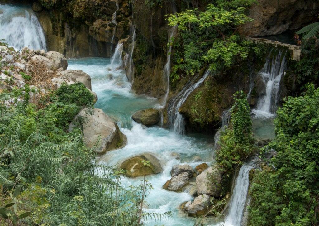 Cascadas en Tolantongo, en el estado de Hidalgo, México.