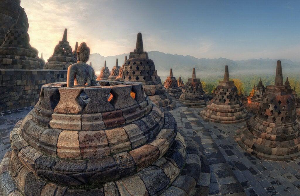 El templo de Borobudur posee una rica historia.